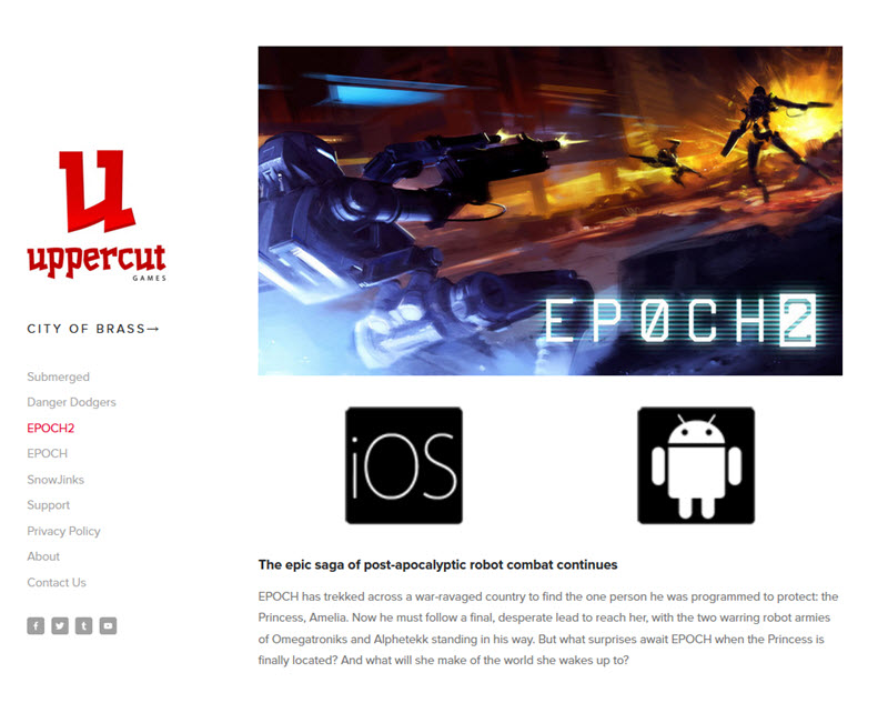 EPOCH 2 Android gaming app by UppercutGames