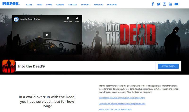 Into the Dead 3d game by pikpok