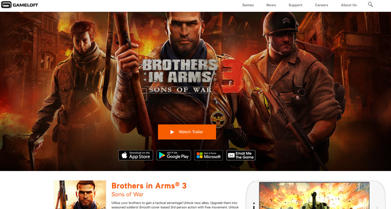 Brothers in Arms 3 - Best 3D Games