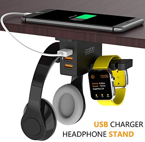 COZOO Headphone Stand with USB Charger 7