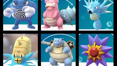 Get your best water type pokemon - now from our today's list of 12